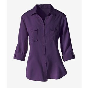 Chico's Size 2 US 12 Silky Soft Button Blouse